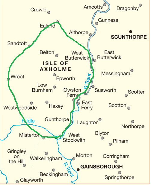 Map of the Isle of Axholme